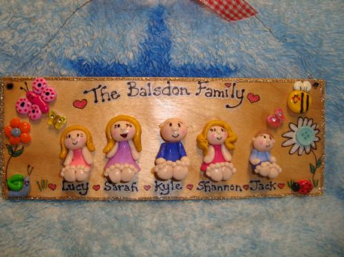5 character 3d Family Sign Personalised Welcome Home Sweet Home